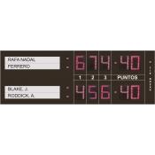 Marcador deportivo electronico para Tenis para 3 sets