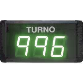 STN D73SV - Panneau électronique pour la gestion d'attente avec trois chiffres en vert avec câble de connexion
