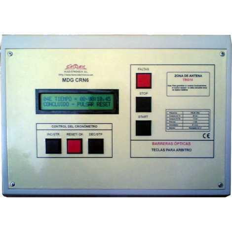 MDG CRN32S - Cronometro Deportivo para intemperie de tres digitos a doble cara