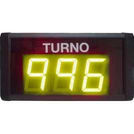 STN D73SY - Panneau électronique pour la gestion d'attente avec trois chiffres en jaune avec câble de connexion