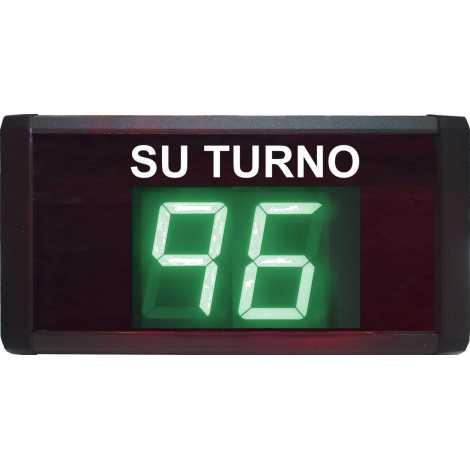 STN D72MV - Su turno de dos cifras en color verde via radio