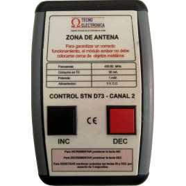 STN D72NMY - Panneau électronique pour la gestion d'attente avecdeux chiffres jaune et pilotage par système radio