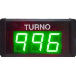 STN D73SVM - Su turno de tres cifras en color verde vía radio