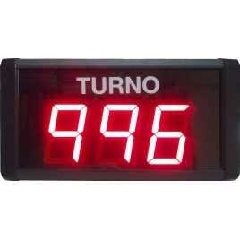 STN D73SR - Panneau électronique pour la gestion d'attente avec trois figures rouges avec câble de connexion