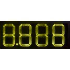 DPG 4SA - Display de 4 dígits grocs de 20 cm. d'alçada per benzinera