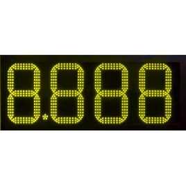 DPG 4BA - Led electronic display with yellow digits made of 34 cm. of height for petrol stations