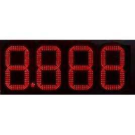 DPG 4NR - Affichage électronique à led en rouge 27 cm. de haut pour les stations-service