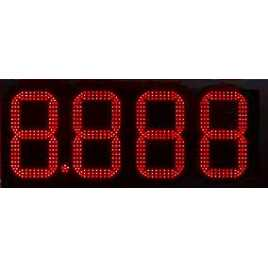DPG 4NR - Led electronic display with red digits made of 27 cm. of height for petrol stations