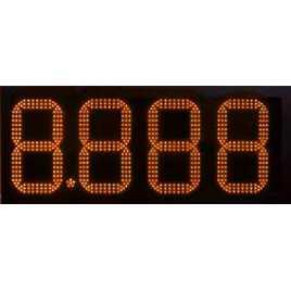 DPG 4NO - display de 4 dígitos laranja de 27 cm. altura para a gasolina