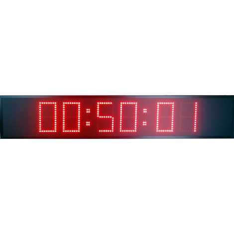 MDG CRN62S - Cronómetro electrónico deportivo para intemperie de seis dígitos a doble cara