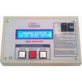 MDG CRN62S - cronòmetre electrònic esportiu per intempèrie de sis dígits a doble cara