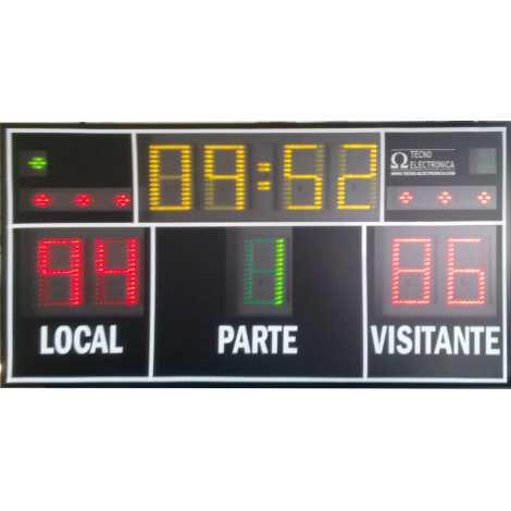 MDG D9S - Tabellone elettronico per palazzetti sportivi e grandi palestre con 9 cifre di 18 cm. altezza