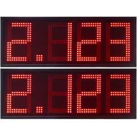 DPG 4DBR - Affichage électronique à led en rouge 50 cm. de haut pour les stations-service