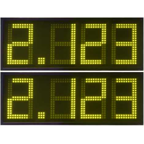 DPG 4SA - Affichage électronique à led en jaune 20 cm. de haut pour les stations-service