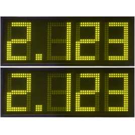 DPG 4NA - display de 4 dígitos amarela de 27 cm. altura para a gasolina