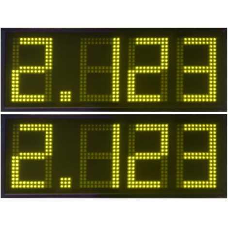 DPG 4DBA - Display de leds indicadores de precios para gasolinera