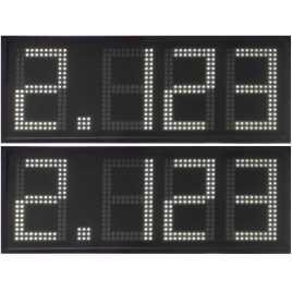 DPG 4BW - Affichage électronique à led en blanc 34 cm. de haut pour les stations-service