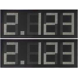 DPG 4DBW - display de 4 dígitos branco de 50 cm. altura para a gasolina