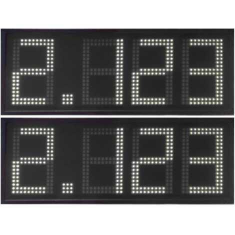 DPG 4DBW - Affichage électronique à led en rouge 50 cm. de haut pour les stations-service
