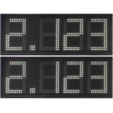 DPG 4DBW - Led electronic display with white digits made of 50 cm. of height for petrol stations