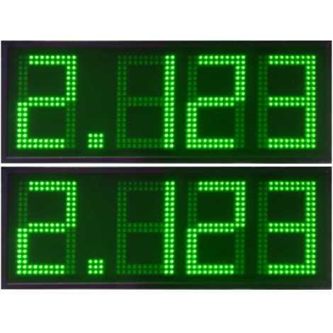 DPG 4SV - Affichage électronique à led en verte 20 cm. de haut pour les stations-service