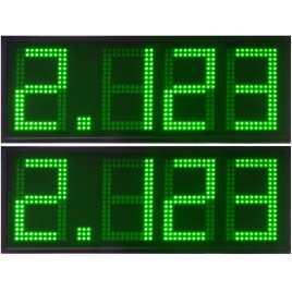 DPG 4DBV - Affichage électronique à led en verte 50 cm. de haut pour les stations-service