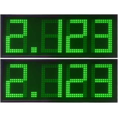 DPG 4DBV - Led electronic display with green digits made of 50 cm. of height for petrol stations