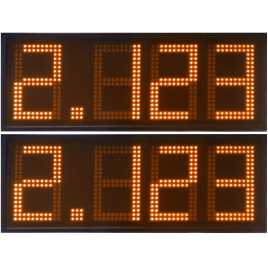 DPG 4SO - Led electronic display with orange digits made of 20 cm. of height for petrol stations