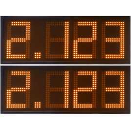 DPG 4NO - Affichage électronique à led en orange 27 cm. de haut pour les stations-service
