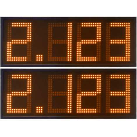 DPG 4NO - Led electronic display with orange digits made of 27 cm. of height for petrol stations