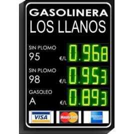 DPG 4SV - Display de 4 dígits verds de 20 cm. d'alçada per benzinera