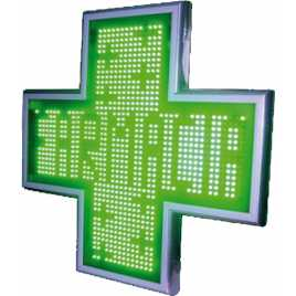 Cruz de led para famacia de 480 x 480 mm. full color