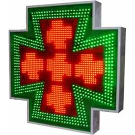 Cruz de led para famacia de 768 x 768 mm. full color