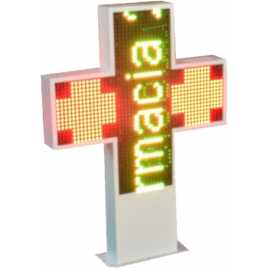 Cruz de led para famacia de 1200 x 1200 mm. full color