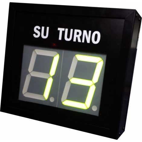 STN D72NMV - Panneau électronique pour la gestion d'attente avec deux chiffres verte et pilotage par système radio