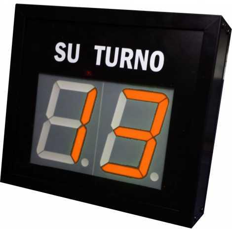 STN D72NR - Panneau électronique pour la gestion d'attente avec deux figures rouges avec câble de connexion