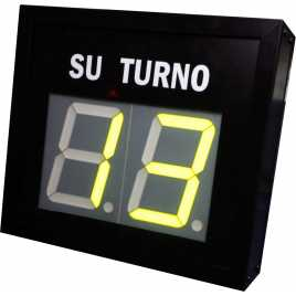 STN D72NMY - Electronic take a number display with double figures in yellow and wireless Remote Control