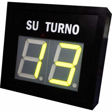 STN D72NMY - Su turno de dos cifras en color amarillo vía radio