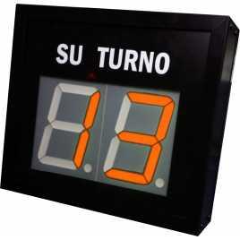 STN D72NMR - Panneau électronique pour la gestion d'attente avec deux chiffres rouge et pilotage par système radio