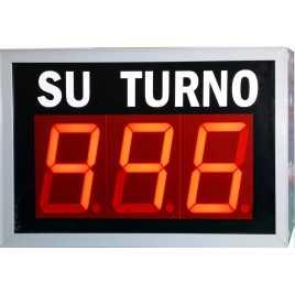 STN D73NRM - Panneau électronique pour la gestion d'attente avec trois stations avec chiffres rouges et connexion sans fil