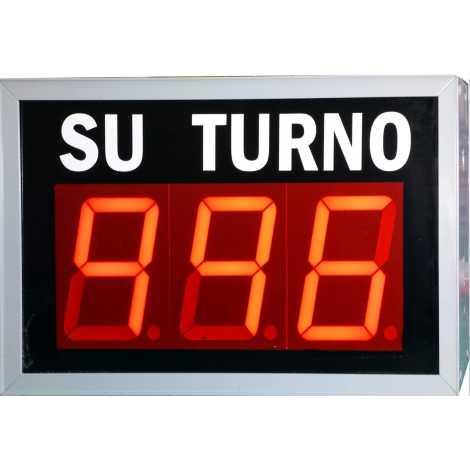 STN D73NRM - Su turno de tres cifras en color rojo vía radio