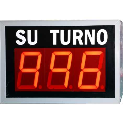 STN D73NRM - Electronic take a number display with three digit red and wireless Remote Control