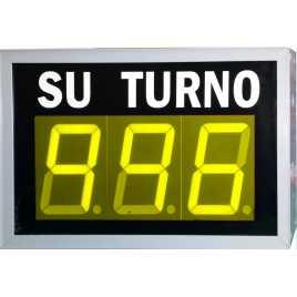 STN D73NYM - Panneau électronique pour la gestion d'attente avec trois jaune et pilotage par système radio