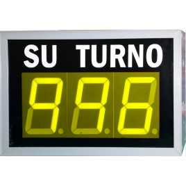 STN D73NYM - Electronic take a number display with three figures in yellow and wireless Remote Control