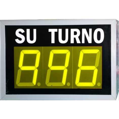 STN D73NYM - Panneau électronique pour la gestion d'attente avec trois chiffres jaune et pilotage par système radio