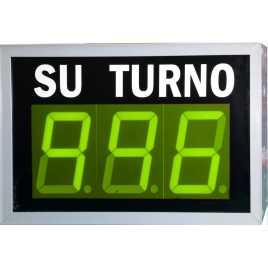 STN D73NVM - Panneau électronique pour la gestion d'attente avec trois verte et pilotage par système radio