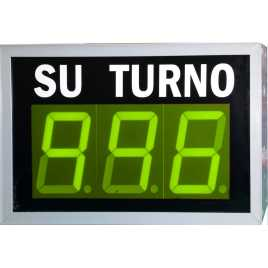 STN D73NVM - Electronic take a number display with three figures in green and wireless Remote Control