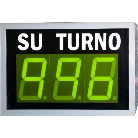 STN D73NVM - Panneau électronique pour la gestion d'attente avec trois chiffres verte et pilotage par système radio