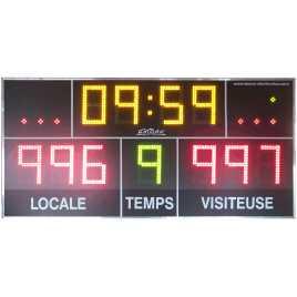 MDG D11S - Tabellone elettronico per palazzetti sportivi e grandi palestre con 11 cifres