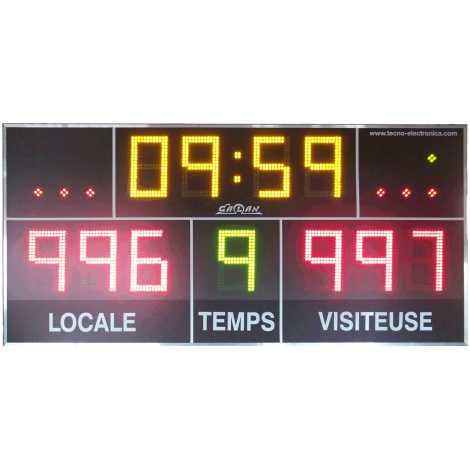 MDG D11S - Tabellone elettronico per palazzetti sportivi e grandi palestre con 11 cifre